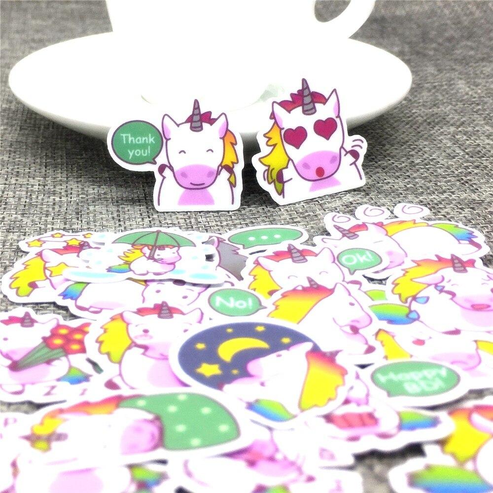 40pcs Mini Cartoon Flying Horse Paper Stickers Scrapbooking  Decoration DIY Toy PhoneAblum Diary Label Sticker Kawaii Stationery