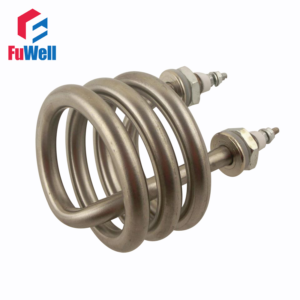 Spiral Stainless Steel Immersion Heater Iron Head Distilled Water Heating Element 220V 380V