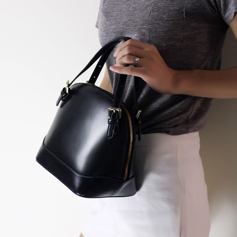 Office Lady Handbag 2018 Elegant Women Handbag Genuine Leather Female Shoulder Purse Bag Stylish Top-handle Messenger Bag stylish bare shoulder printed women s chiffon top