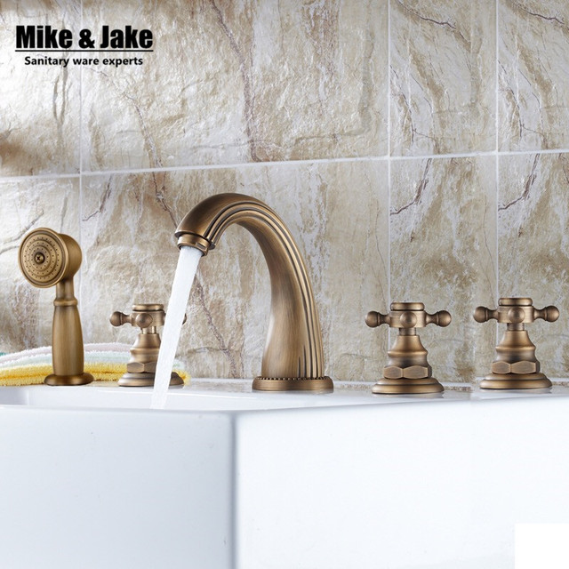 Bagno Antico vasca da bagno cinque pezzi rubinetto miscelatore vasca ...