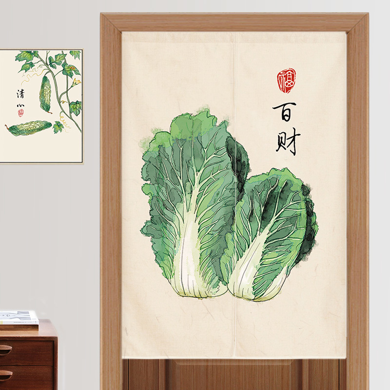 Style chinois coton et lin tissu porte rideau cuisine salle à manger compartiment cloison chambre salle de bain décoration
