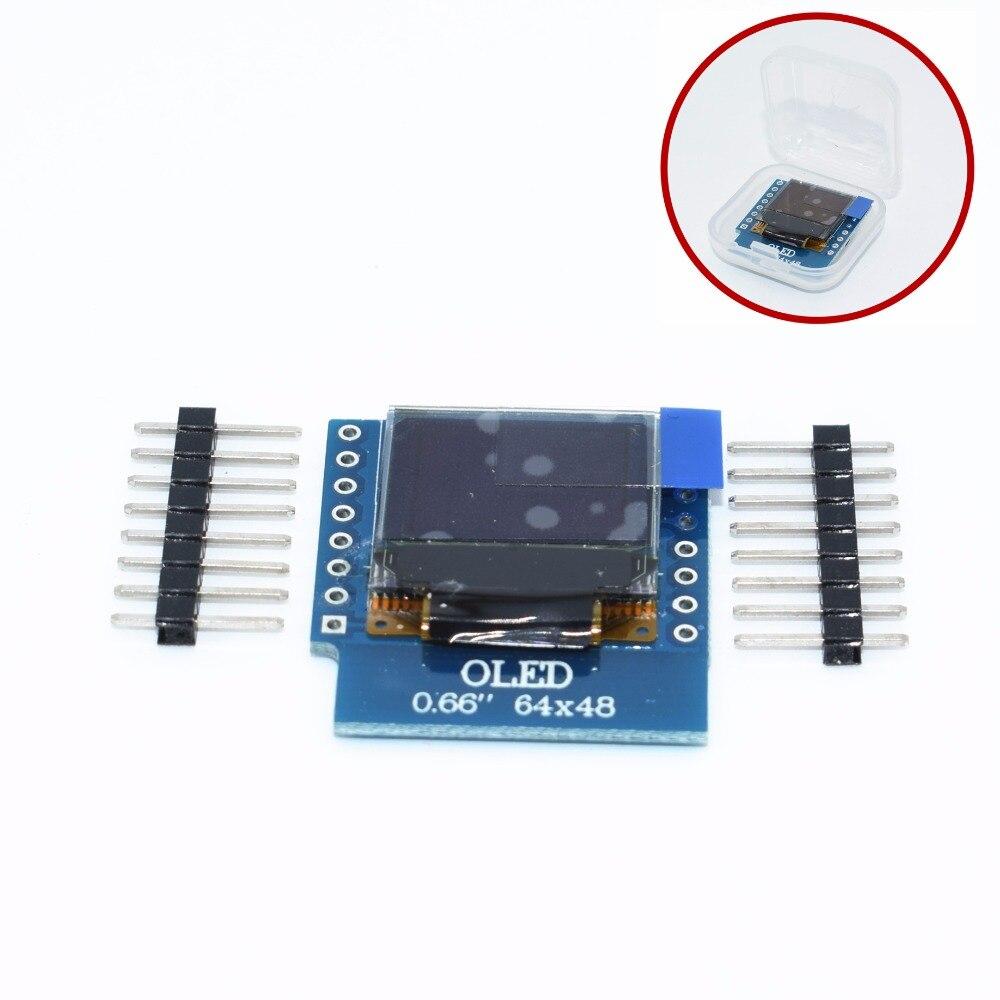 10pcs OLED Shield For WeMos D1 Mini IIC I2C IOT 0.66