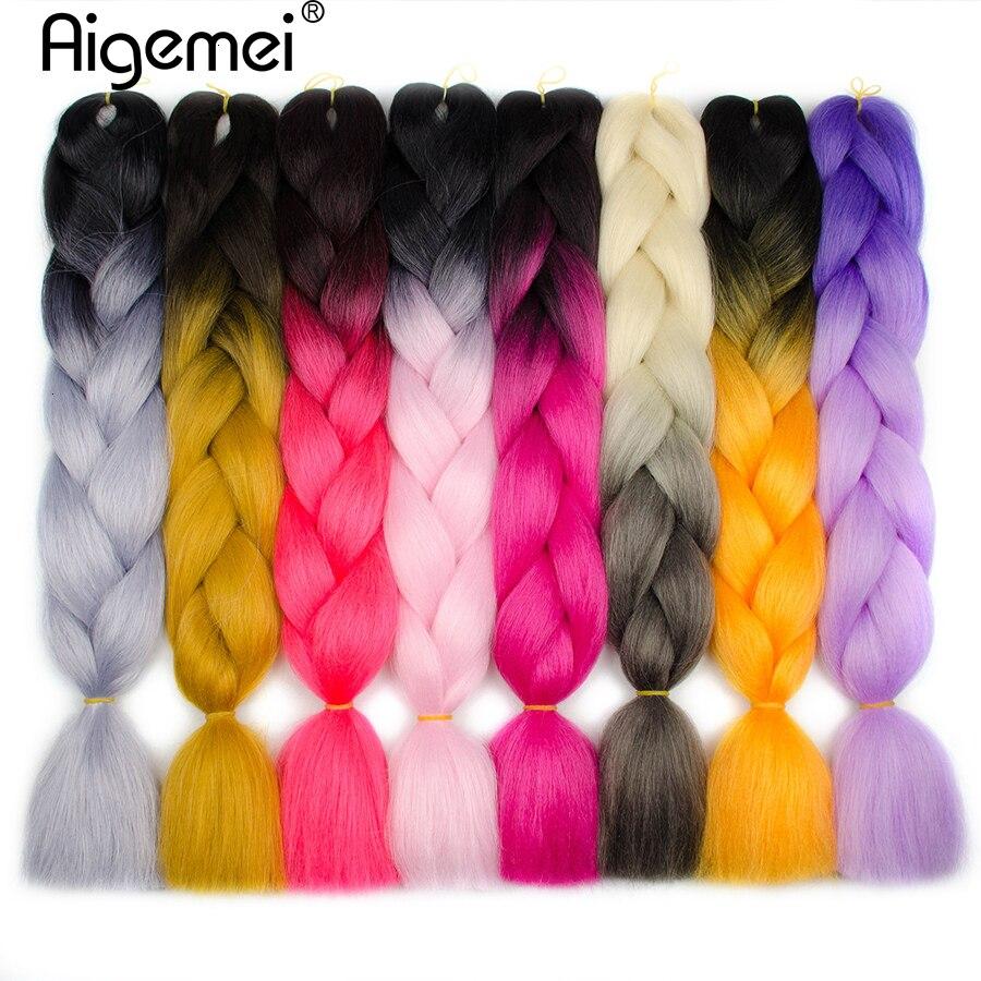 Aigemei Jumbo Πλεξούδες Πλεξούδα Πλεκτά - Συνθετικά μαλλιά - Φωτογραφία 4