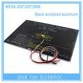 Новый Черный Анодированный MK2A 300*200*3.0 мм ПАНДУСЫ 1.4 Алюминий Heatbed MK3 Для 3D Принтер Электронный Подогреватель кровать 3D0280