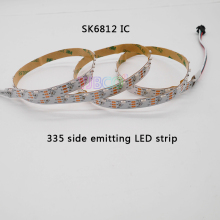 5m/rolls DC5V ws2812b addressable 60leds/m SK6812 IC control 300leds 335 side emitting led digital pixel strip nonwaterproof