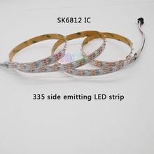 5m/rolls DC5V ws2812b addressable 60leds/m SK6812 IC control 300leds 335 side emitting led digital pixel strip nonwaterproof