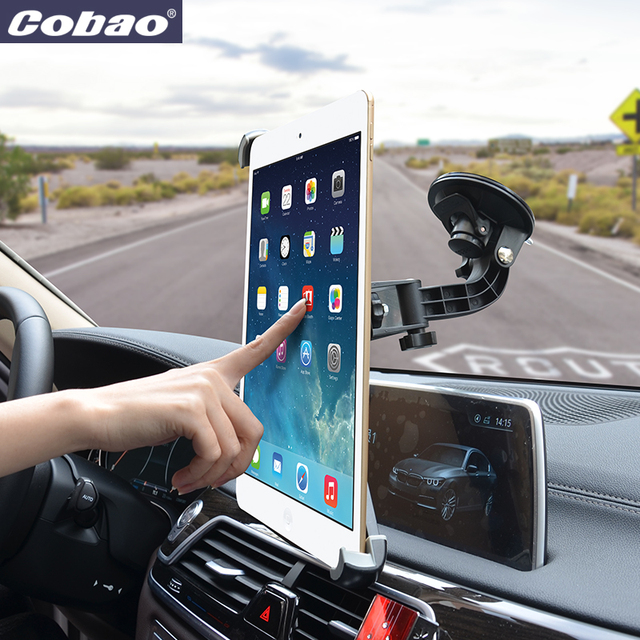 Cobao universal 9.5 9.7 10 11 14.5 inch tablet PC stand car windshield navigation tablet holder for car for 9.7 12.9 Ipad pro