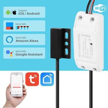 WiFi умный Открыватель двери гаража переключатель управления Лер умный жизнь Tuya приложение Управление работает с Alexa Google Home IFTTT