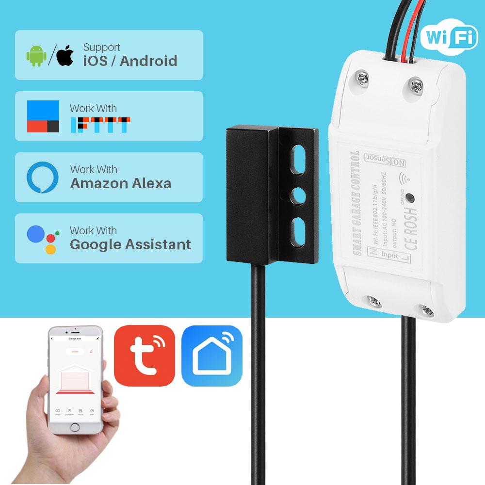 WiFi Smart Garage Door Opener Switch Controller Smart Life Tuya APP Control Works With Alexa Google Home IFTTT