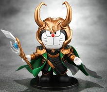 NEW Hot 1pcs Doraemon cosplay Avengers Loki PVC Action Figure toys Christmas gift toy