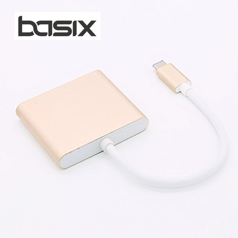 """""""BASIX"""" USB tipo """"C"""" tipo adapteris """"3-in-1"""" USB C hub į - Kompiuterių periferiniai įrenginiai - Nuotrauka 4"""