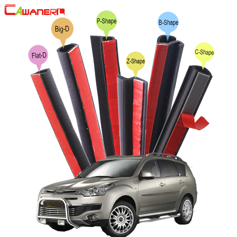 Cawanerl Car Accessories Auto Rubber Sealing Strip Kit Seal Edge Weatherstrip Sound Insulation For Citroen C-Crosser