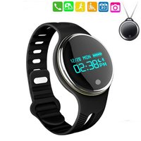 Smart Watch Waterproof Sports Wristband Health Activity Fitness Tracker Bluetooth Sync Bracelet Android IOS Phone Round LED E07