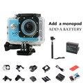1 pcs bateria extra + monopé câmera de ação esporte 1080 p hd mini câmeras à prova d' água esportes mini dv filmadora gopro estilo capacete cam