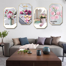 Nordic style pink INS Hand Painted abstract oil painting home hotel hanging background wall restaurant decorative mural