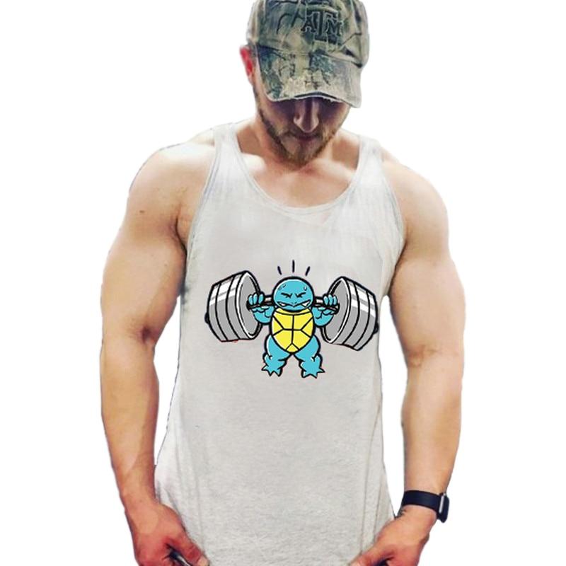 muslce vest Merk tanktops bodybuilding workout heren katoen singlets - Herenkleding - Foto 3