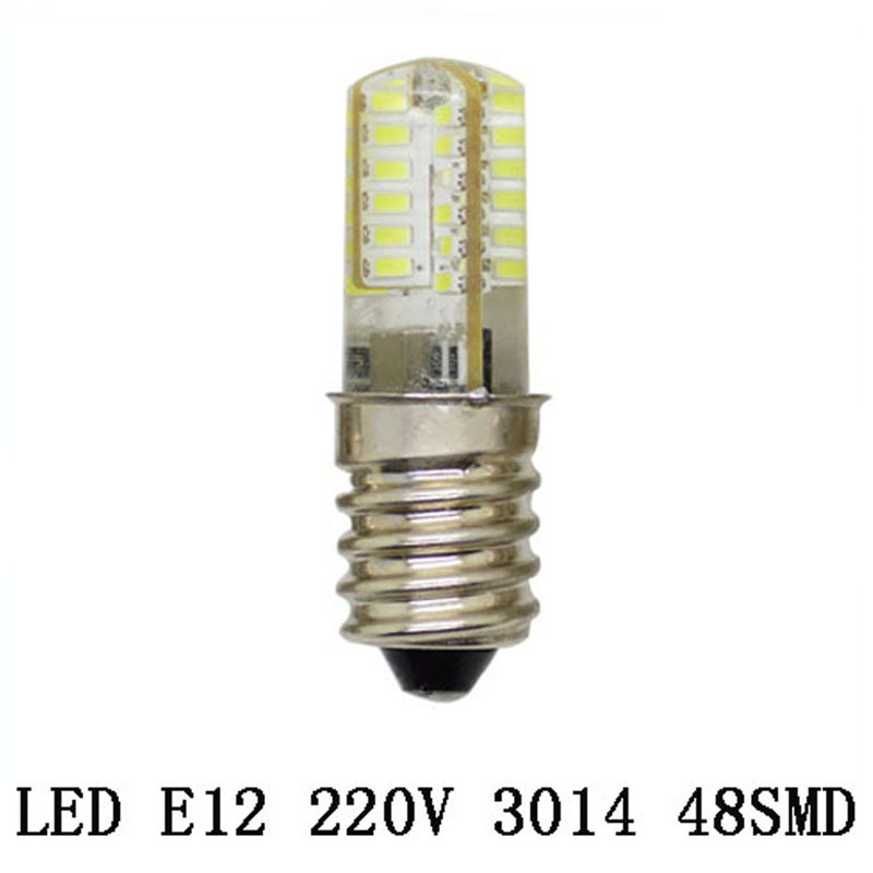 1X E12 Led Bulb Light 24 32 48 LEDS 220V 3W 5W 7W Corn Bulb SMD3014 Silicone Candle lamps For Crystal Chandelier Lighting led gold deco chandelier bulbs candle light e14 85 265v 5w lamps