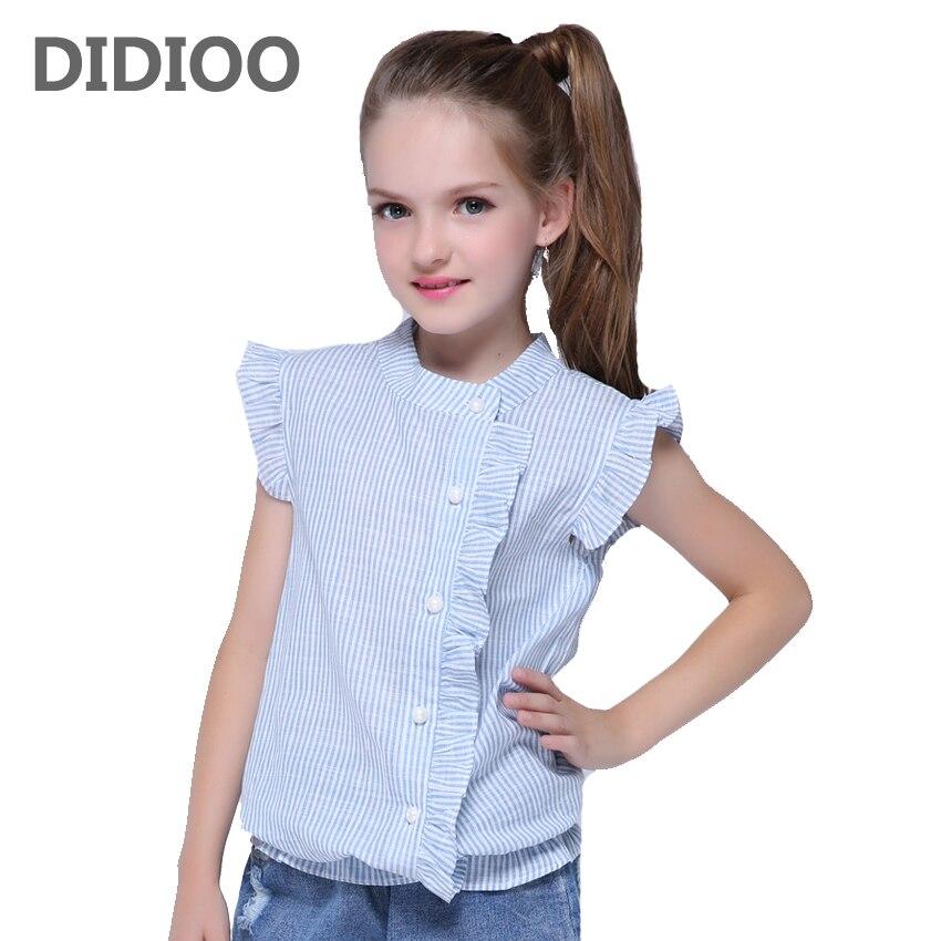 Girl Shirt Brand Cotton Girls White Blouses High Quality Solid Teenage School Uniform Shirt Long Sleeve Spring Kids Clothes