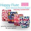 Os happyflute bebé pañal de tela, suedecloth permanecer seco interior, Sml ajustable, impermeable y transpirable para 5-15 kg bebé