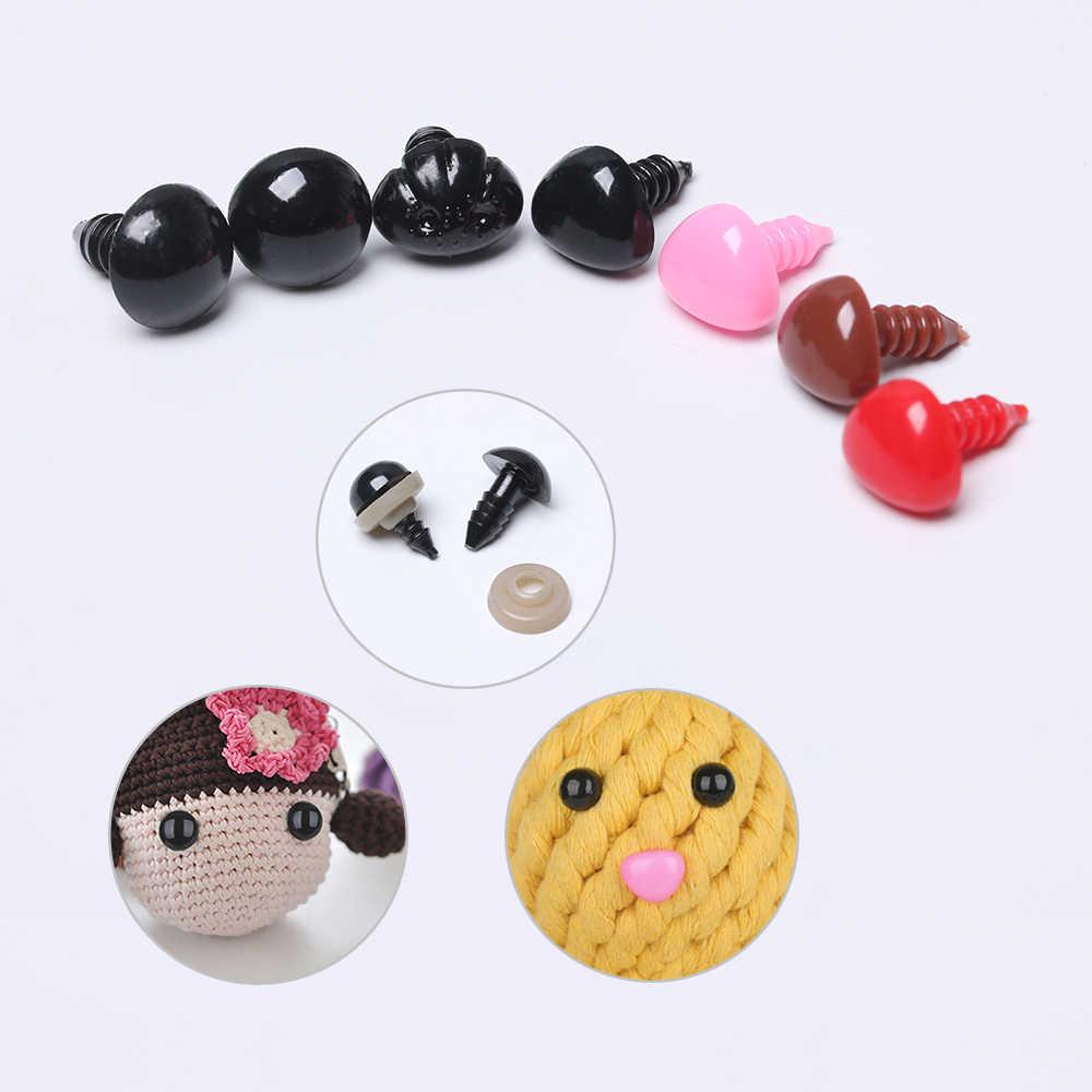 2019 6-12 мм черный Изделия из пластика защитные глаза для плюшевый мишка, мягкая игрушка кукла животных амигуруми DIY аксессуары для малышей