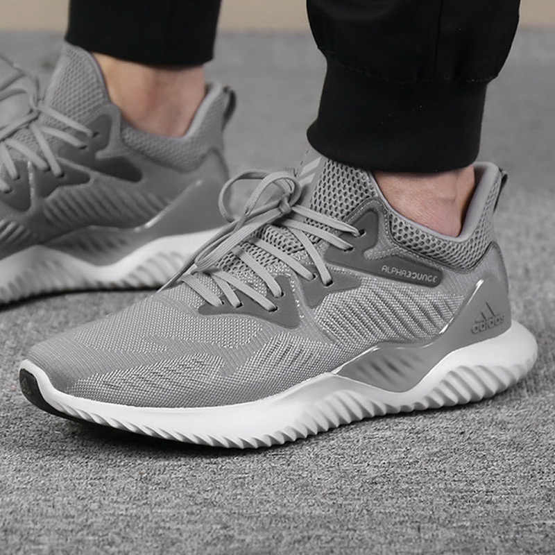 1b8aee467 ... Adidas Alphabounce Beyond Men s Running Shoes Original Sports Outdoor  Sneakers Shoes Grey Dark Grey Breathable ...