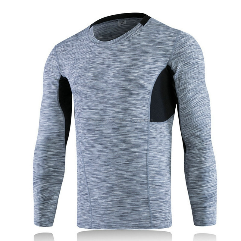 Yuerlian Mens Sport Shirts Tops Super Elastic Muscle Shape in Wearing Quick Dry Tech Mens WorkOut T Shirt For Athletic Sport