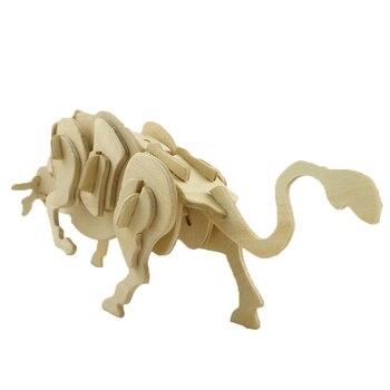BOHS Building toys Child  3d  Animal Bull Model & Building DIY 1
