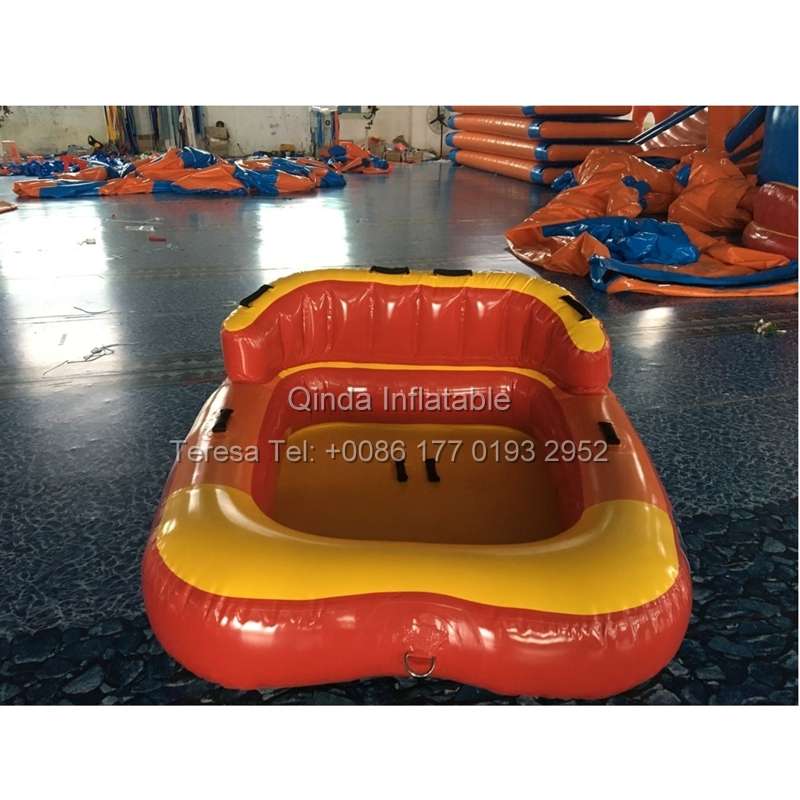 Inflatable Towable Tube Inflatable Water Crazy UFO Surfing Boat Inflatable UFO Bumper Car Water Game 4 1m red colour inflatable towable tube crazy ufo flying boat inflatable water sofa for summer water park