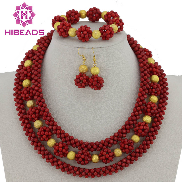 beads making thread fashions necklace for red jewelry gold products plated set tiptop