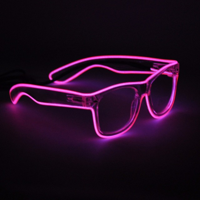 41d09641aa Light Up Neon EL Wire Rave Glow LED Sunglasses Light Costumes Eyeglasses  For Party Festivals DJ Christmas Gift Flashing Glasses