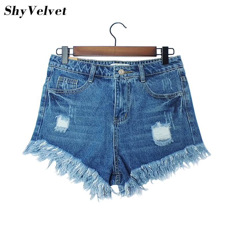 Hot sale / 2018 New Fashion women's jeans Summer Mid Waist  Denim Shorts Casual women Jeans Shorts Hole Shorts Hot Plus Size