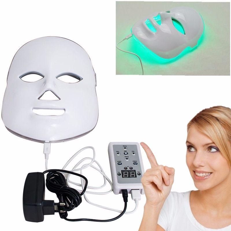 7 couleurs lumières LED Photon PDT masque de beauté du visage soins de la peau thérapie de rajeunissement