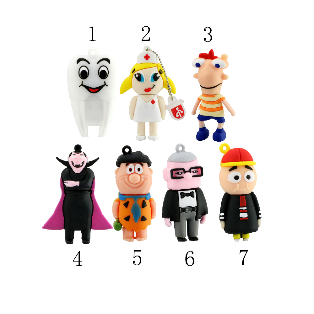 Real capacity cartoon ELF Family USB 2.0 USB flash drive pen drive 8gb 16gb 32gb 64gb ELF family Memory Stick Pendrive Gift