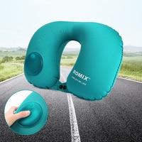 Portable Inflatable U Shape Pillow Car Travel Office Plane Neck Pillow Protect Headrest Custom Advertising Flag