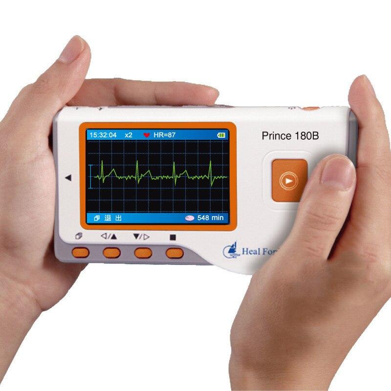 Principe 180B ECG ECG Elettrocardiogramma Electro Electrocardio Scanner Cavo di Piombo/Wire Elettrodi Pastiglie LCD Opzionale Protegge Il Caso