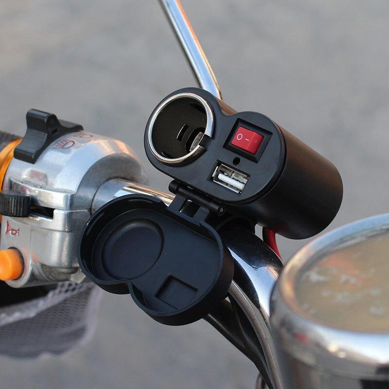 Gehorsam 12-24 V Motorrad Auto Zigarette Leichter Buchse Usb Ladegerät Mit Schalter & Lenker Halterung Für Handys Gps Tablet Csl2017