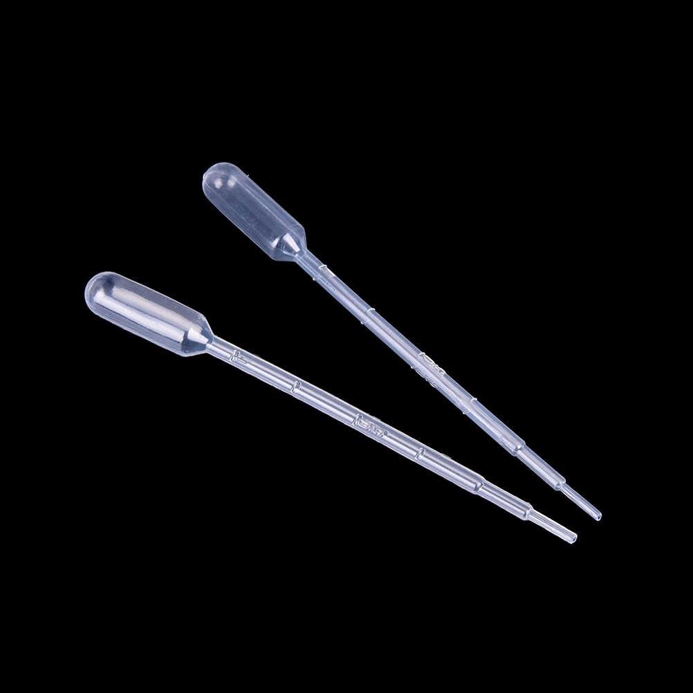 100 sztuk 1 ML przezroczyste pipety jednorazowe bezpieczne zakraplacz do oczu z tworzywa sztucznego z podziałką pipety laboratorium szkolne marka artykułów