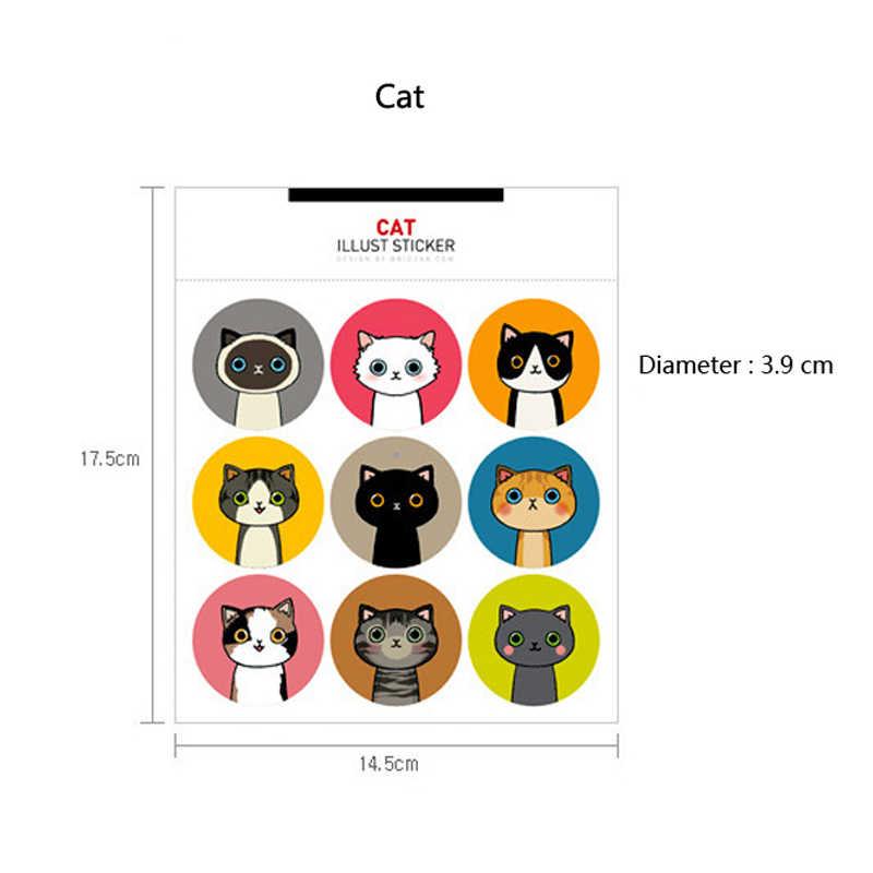 Kawaii القط و الأرنب الحيوان ملصقات DIY ل ألبوم صور زجاجة جراب هاتف الزخرفية الفن جولة ختم لصق ملصق