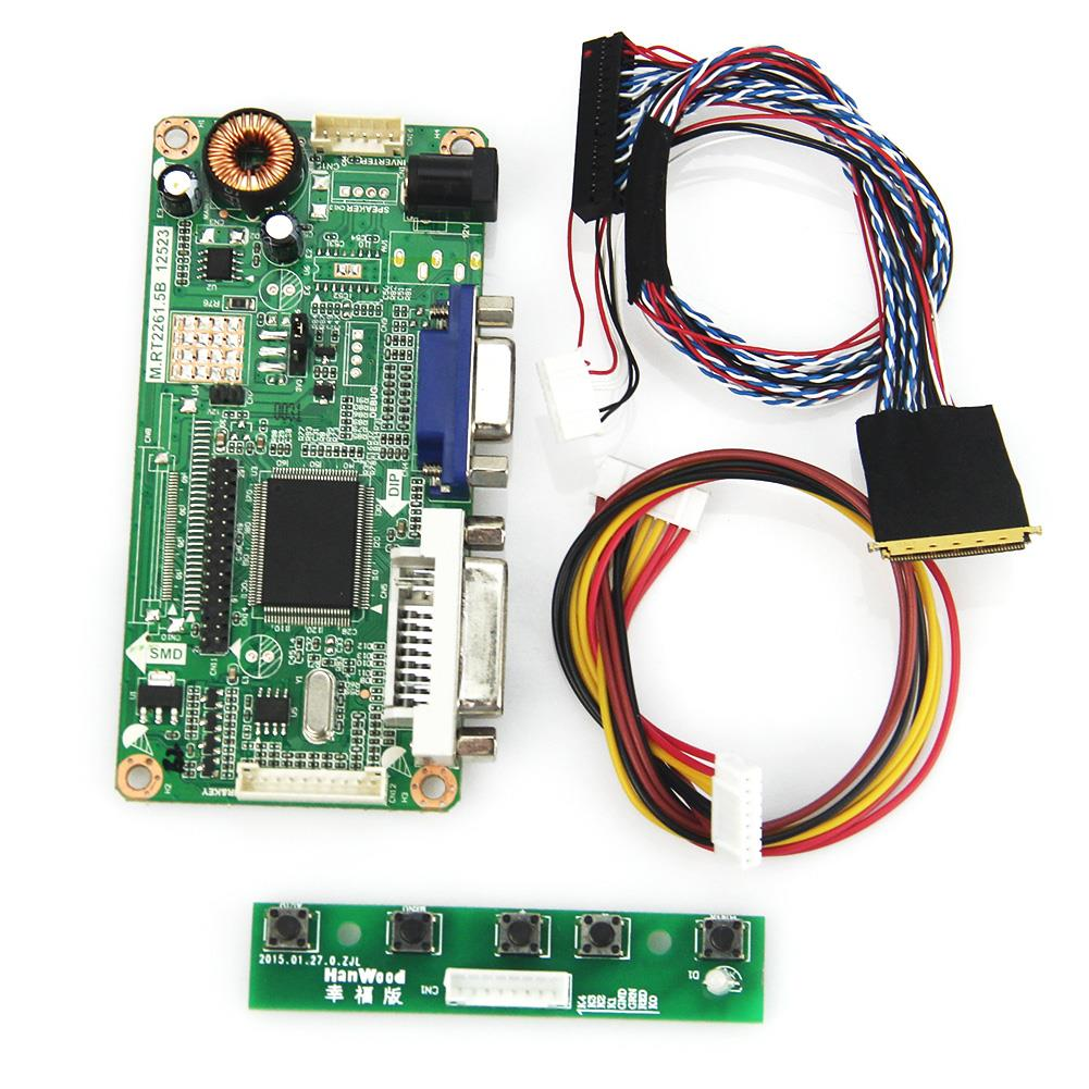 (VGA+DVI) M.R2261 M.RT2281 LCD/LED Controller Driver Board For LP101WSA(TL)(A1) PQ 3QI-01  LVDS Monitor Reuse Laptop 1024x600 for lp156wh3 tl a2 vga dvi m rt2261 m rt2281 lcd led controller driver board lvds monitor reuse laptop 1366x768