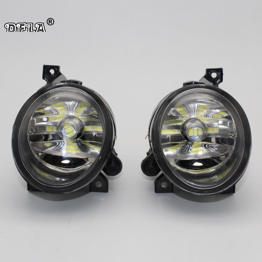2pcs Car LED Light For VW Polo Vento Sedan Saloon 2011 2012 2013 2014 2015 2016 Car-Styling Front LED Fog Light Fog Lamp right side for vw polo vento derby 2014 2015 2016 2017 front halogen fog light fog lamp assembly two holes