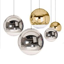 Nordic Pendant Lights Globe Glass Pendant Lamp Chrome mirror ball Hanging Lamp Modern Home Lighting Kitchen Hanging Lamps