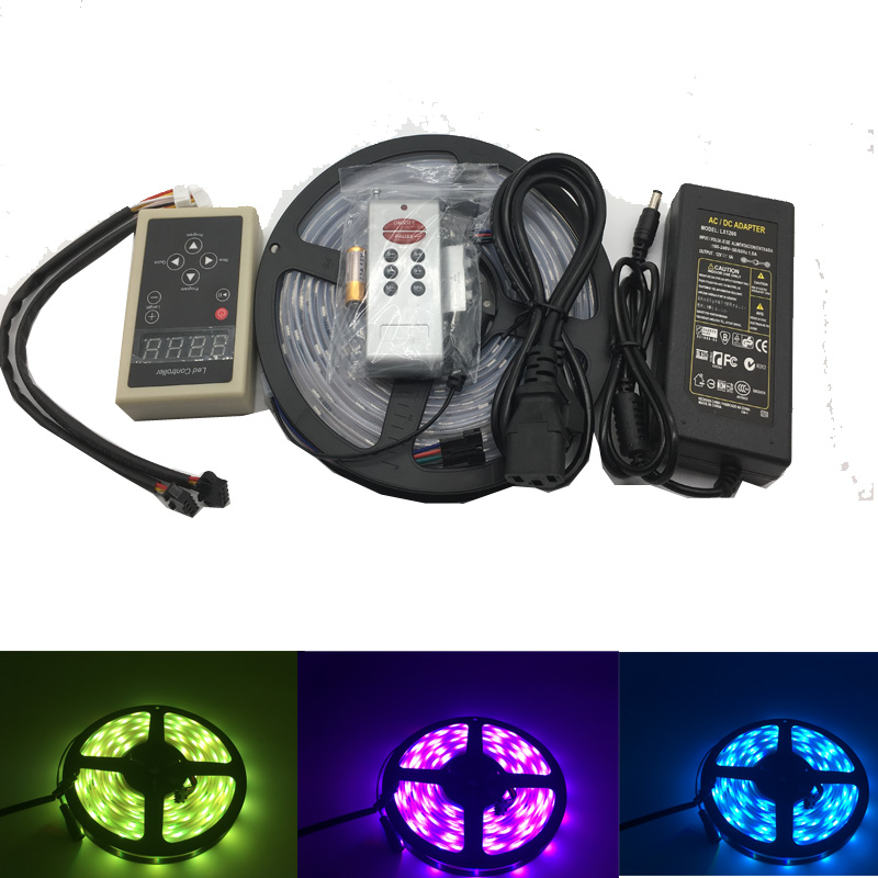 цена на DC12V 5M 6803 IC Dream Magic Color LED Strip 5050 RGB 6803 LED Strip Light IP67 Waterproof 133 Program 6803 controller