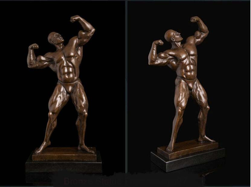 Us 10404 86 28 Off Ss Art Deco Sculpture Muscle Man Mr Aerobics Male Body Bronze Statue Signed In Statues Sculptures From Home Garden On