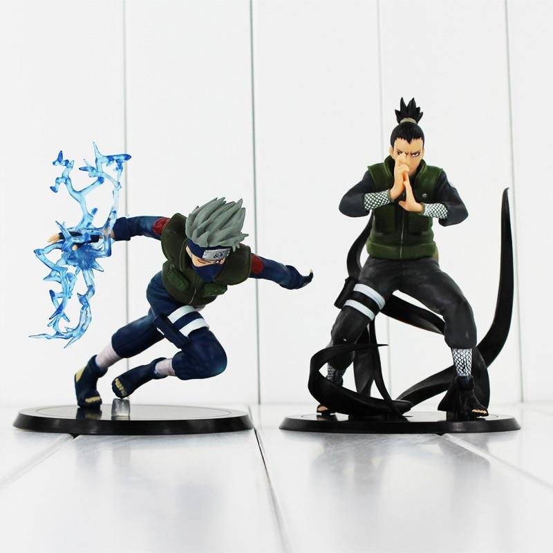 2 Gaya Dipilih Anime Naruto Nara Shikamaru + Hatake Kakashi PVC - Tokoh mainan