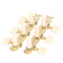 Good deal 6pcs 3L/3R Classical Guitar String Button Three Connections Tuning Pegs Guitar Parts & Accessories
