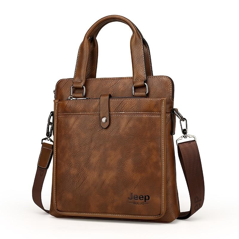 0d1310a02b Mens Luxury Genuine Leather Shoulder Bag Satchels Crossbody Bag Handbag  Messenger Bag Cowhide Male iPad Briefcase Jeep Bag on Aliexpress.com