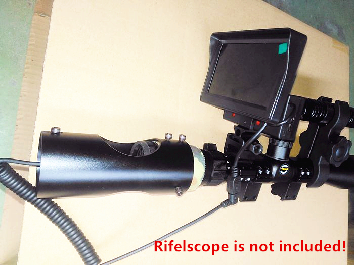 DIY Digital Infrared Camera Rifle Scope Night Vision Scope with Display Screen IR Flashlight