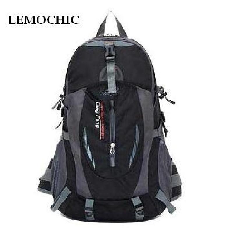 LEMOCHIC NEW Outdoor Waterproof Hiking Backpack Ventilated Women Men Camping Travel Bag Molle Trekking Climbing Bag Rucksack
