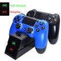 PS4 Schlank Pro Joystick Dual USB Ladegerät Controller Schnelle Lade Dock Station mit Led anzeige für Playstation 4 PS4 Gamepad|Ladegeräte|   -