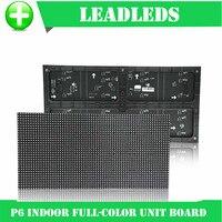 P6 RGB interior Full Color LED Display Module Com 32*64 1R1G1B 384*192 milímetros pixels para Alta claro Tela Grande